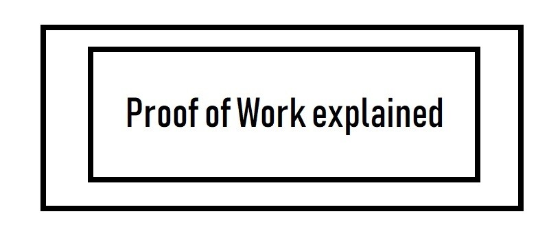 Proof of Work Explained