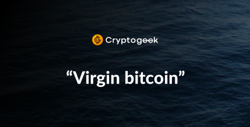 "What is ""Virgin Bitcoin"" and why is it more expensive?"