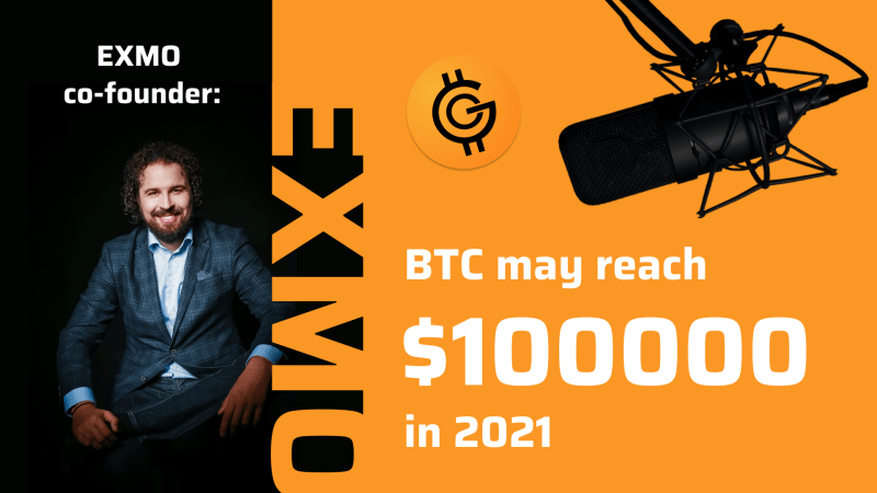 """""""Bitcoin may reach $100000 in 2021""""  An interview with EXMO co-founder Ivan Petuhovschii"""