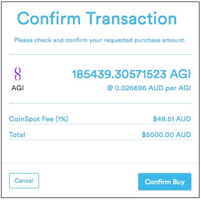 Wie viel kostet es, Crypto auf Coinspot zu verkaufen?